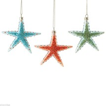 Department 56 Spotted Starfish Ornament  Choice of Color Green Blue Orange