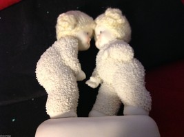 Department 56 snow babies 2013 real knit hats two babies BFF