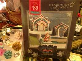Department 56 Snow Village Visit with Santa Start of the Season with trees image 1