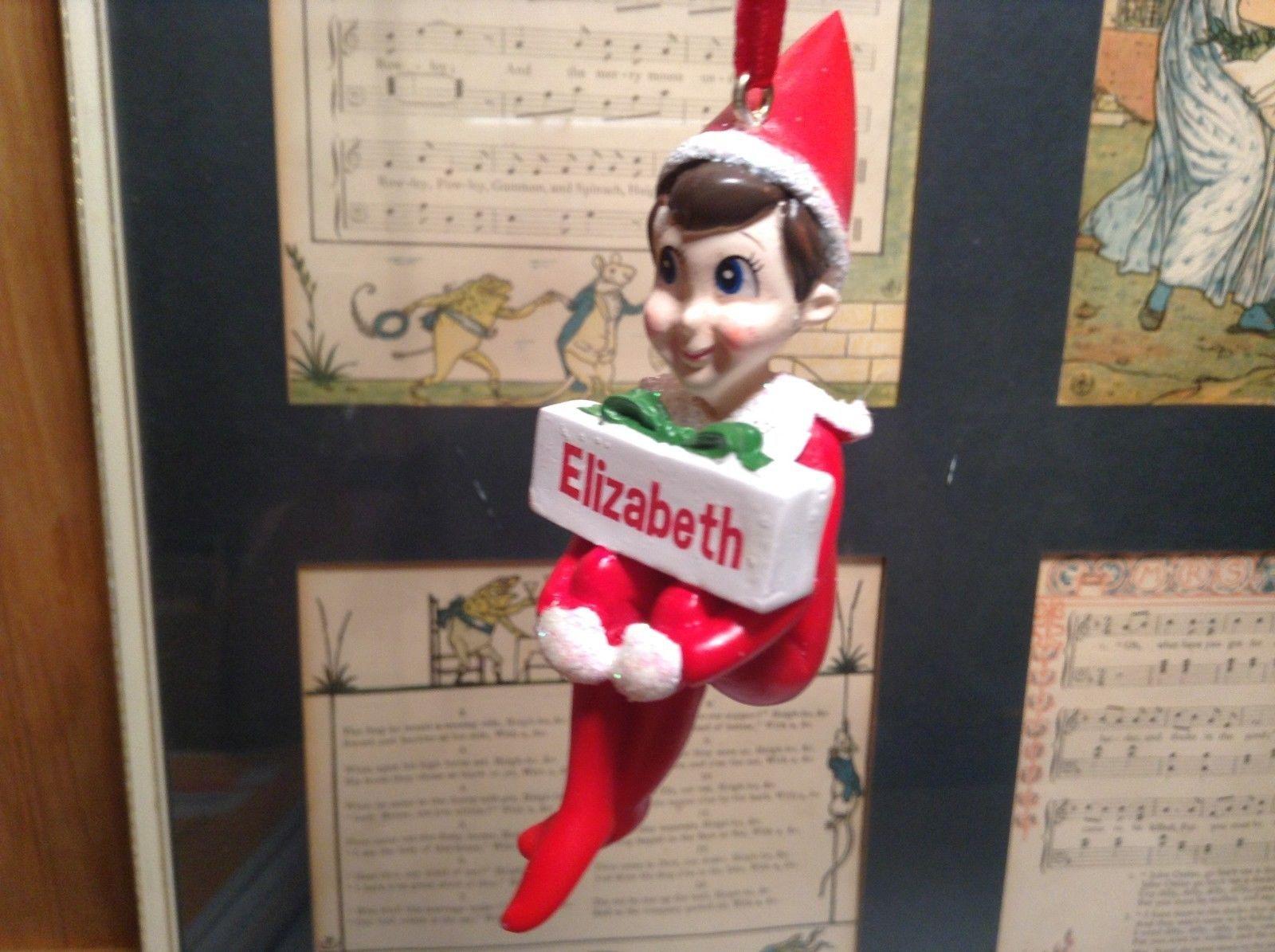 Dept 56 - Elf on the Shelf - Elf named Elizabeth Christmas Ornament