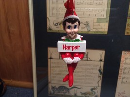 Dept 56 - Elf on the Shelf - Harper banner Christmas Ornament