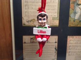 Dept 56 - Elf on the Shelf - Lillian  banner Christmas Ornament