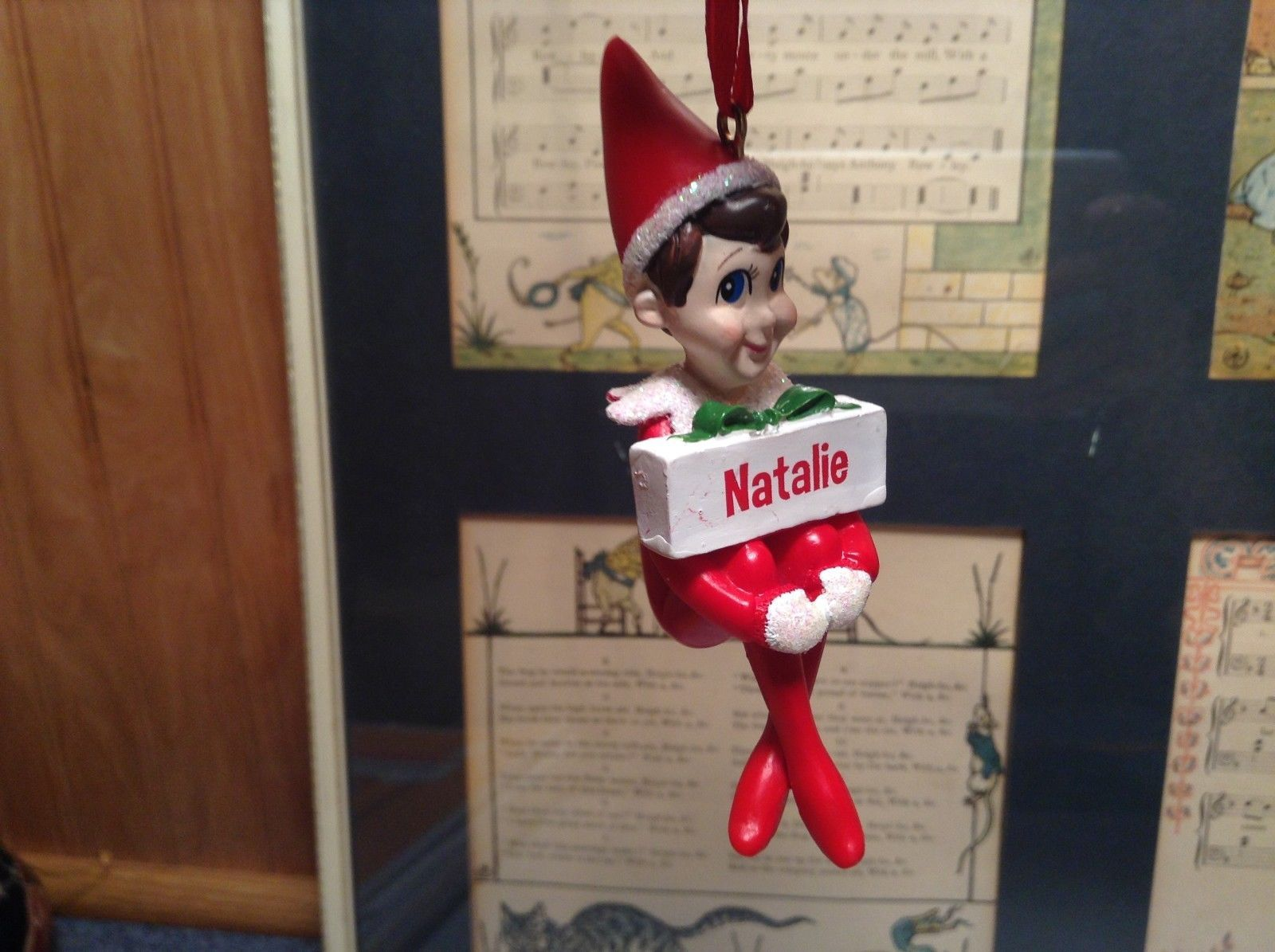Dept 56 - Elf on the Shelf - Elf named Natalie Christmas Ornament