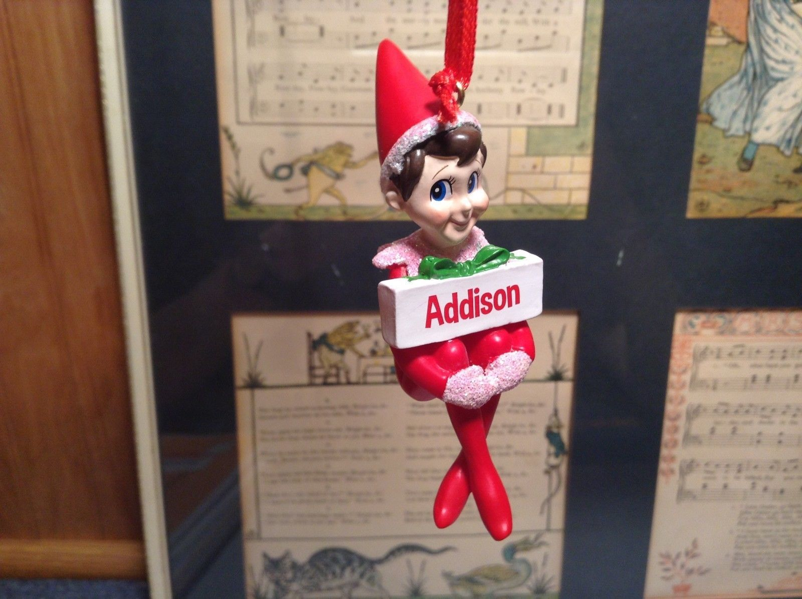 Dept 56 - Elf on the Shelf - Elf named Addison Christmas Ornament