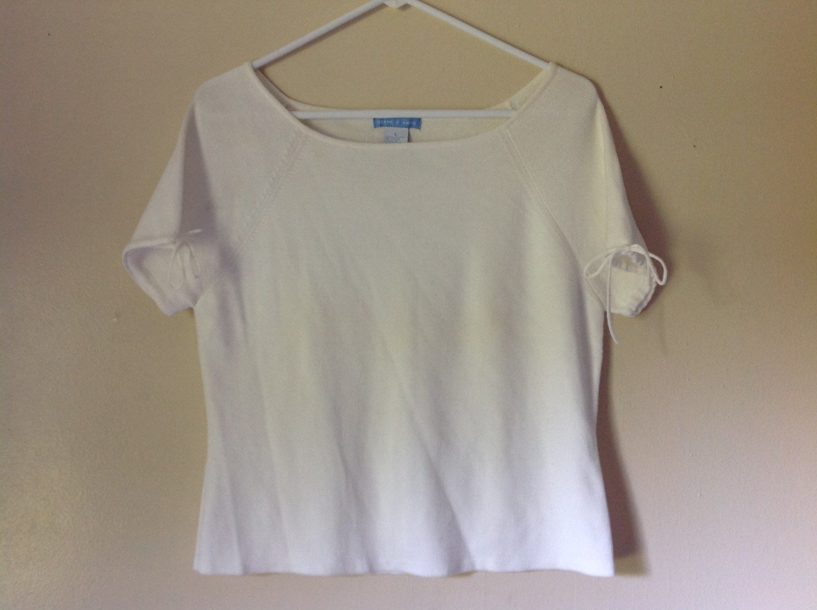 Deane and White Short Sleeve Size Large 100 Percent Cotton Shirt