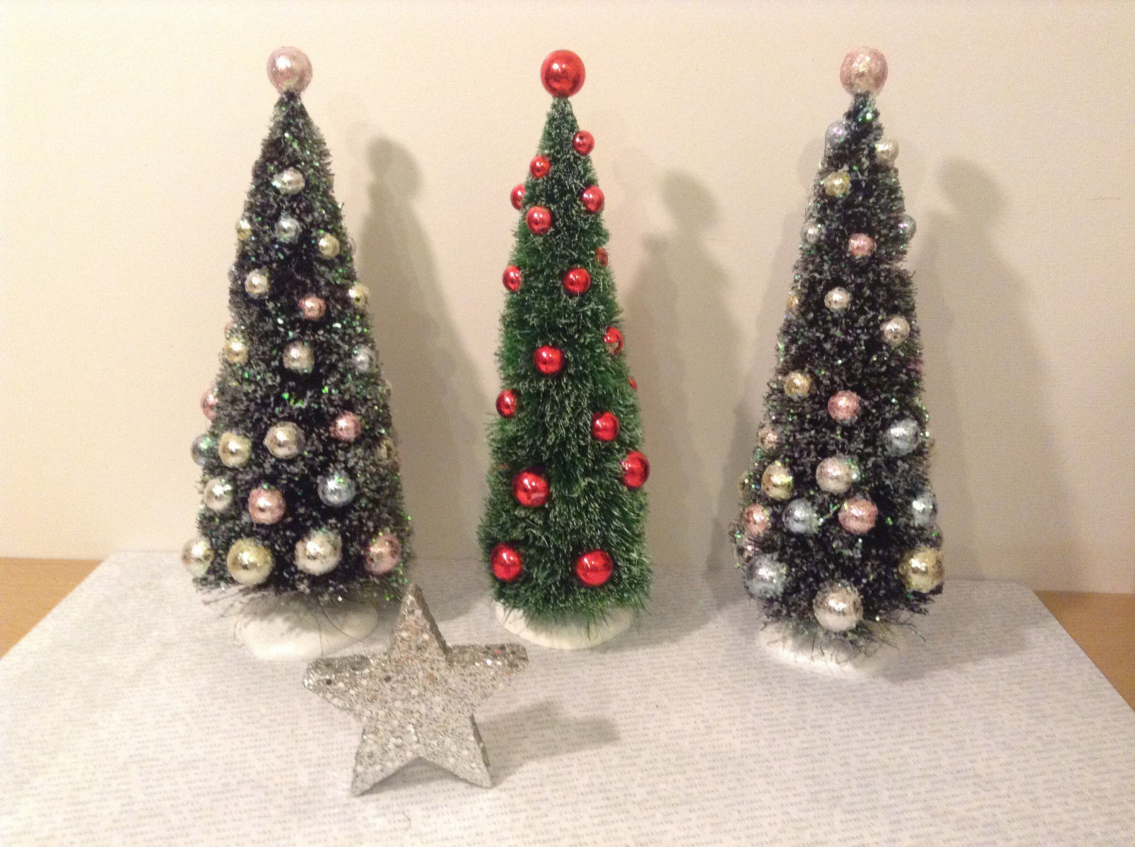 Decorative Christmas Trees Set of 3 Star Department 56