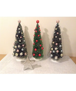 Decorative Christmas Trees Set of 3 Star Department 56 - $29.69