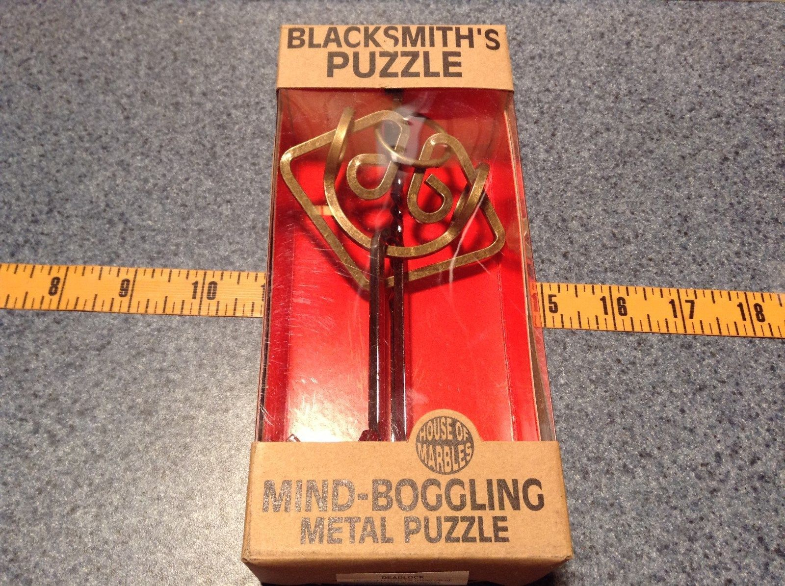 Deadlock Mind Boggling Metal Puzzle by House of Marbles Blacksmiths Puzzle