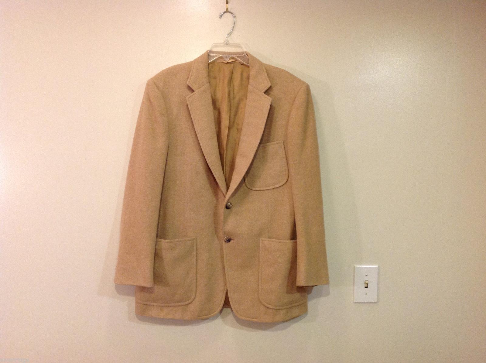 Delton Ltd Baron's Two Buttons 100% Cashmere Herringbone Blazer Suit Jacket
