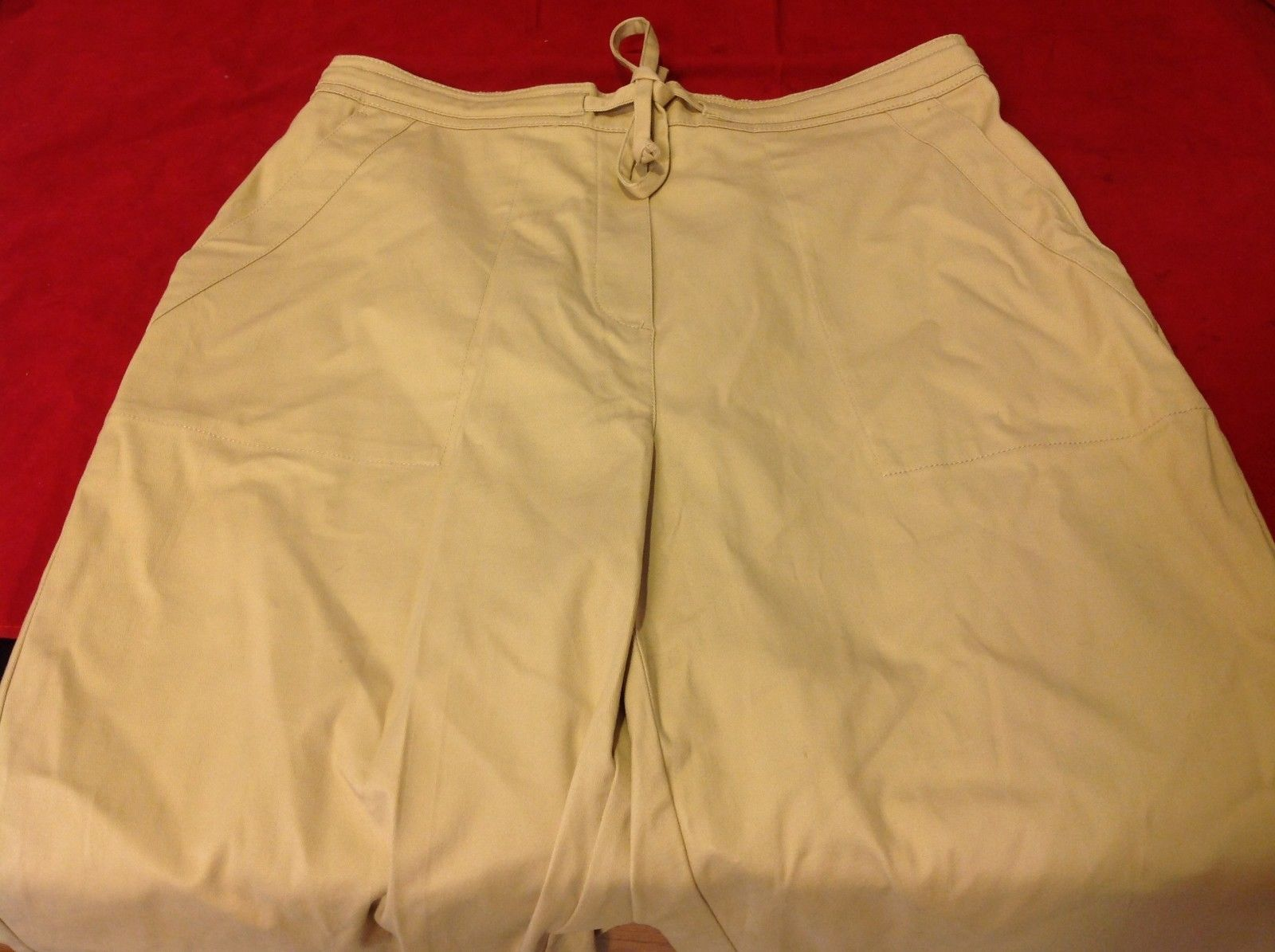 Denim & Co khaki pants women's size large