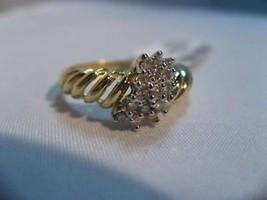 Diamond .25 ctw Ring ACA Certified 10K gold ladies 6.5