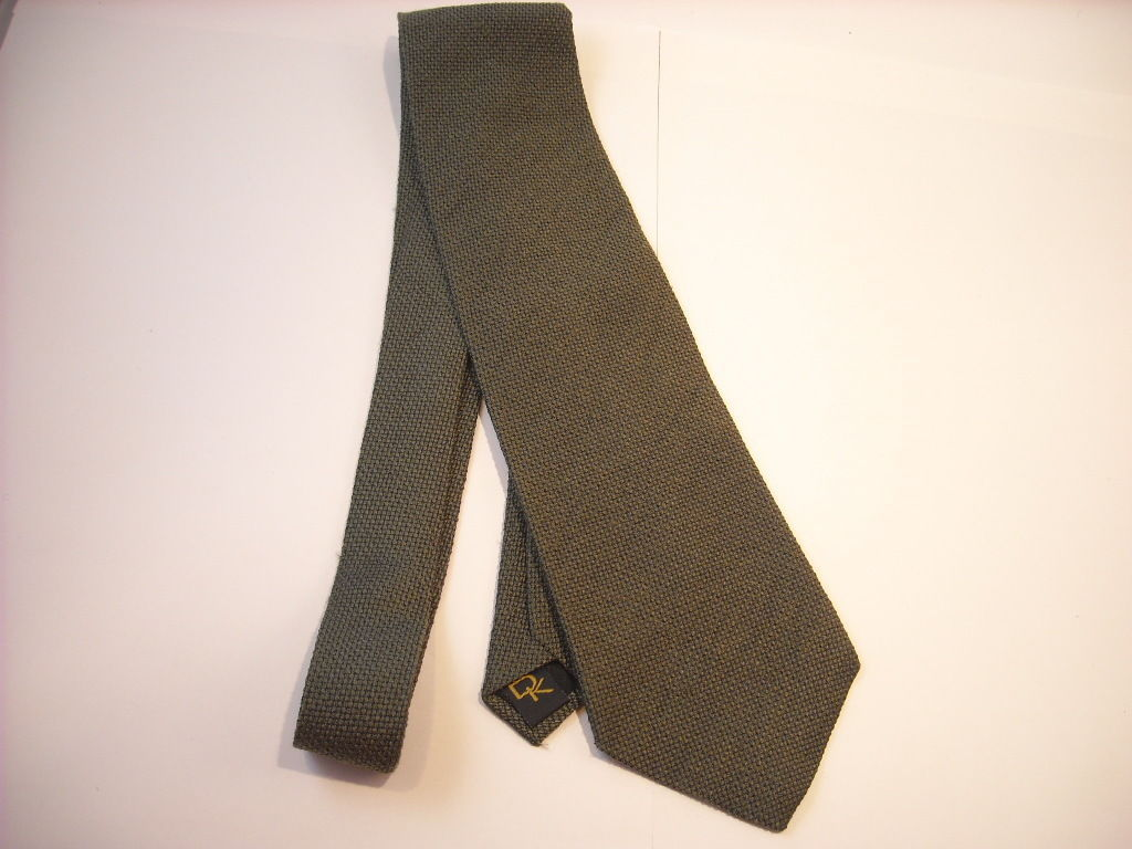 Donna Karan Woven Silk Green Neck Tie New