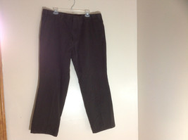 Dockers Classic Fit Brown Work Pants Front and Back Pockets Waist Size 42