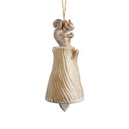 Department 56 Ceramic Squirrel  wind chime bell Forest Lane