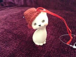 Department 56 Cute Kitten Cat ornament w real Knitted Hat cap color choice