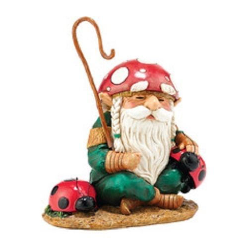 Department 56 Garden Guardian Ponder the Ladybug Shepherd Gnome