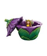 Department 56 Garden Guardian Violet Flower Trinket Box w Small Fairy In... - $39.99