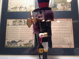 Cute Vintage Nutcracker Soldier Holding Axe and Lantern image 5