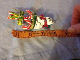 Cute Westie Westminster White  Terrier on Candy Canes Ornament image 4