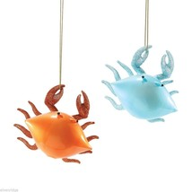 Department 56 Glass Crab Ornament  Choice of Color Brown or Blue