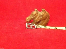 Cute little miniature finial with two horses heads vintage image 3