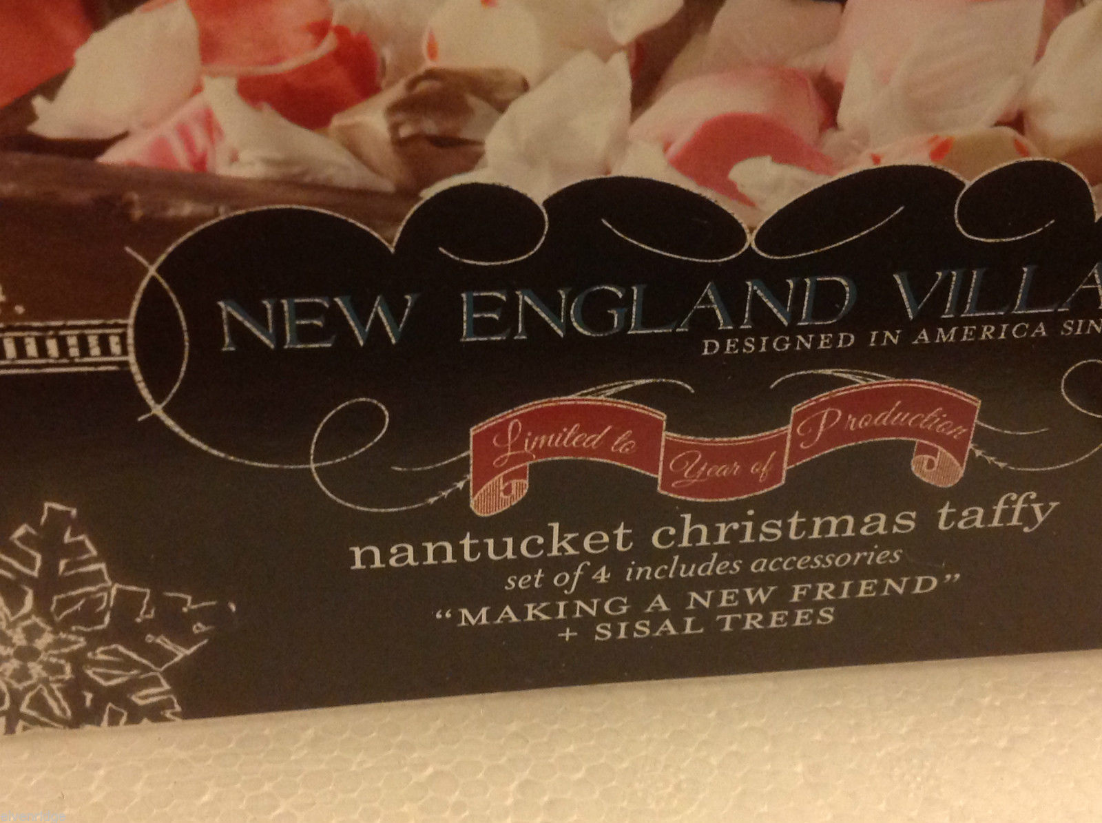 Department 56 New England Village Nantucket Christmas taffy Making a New Friend