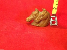 Cute little miniature finial with two horses heads vintage image 2