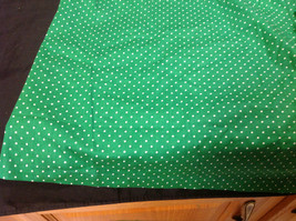 D & Co. Ladies Size 3X Short Sleeve Blouse Green with White Polka Dots image 7