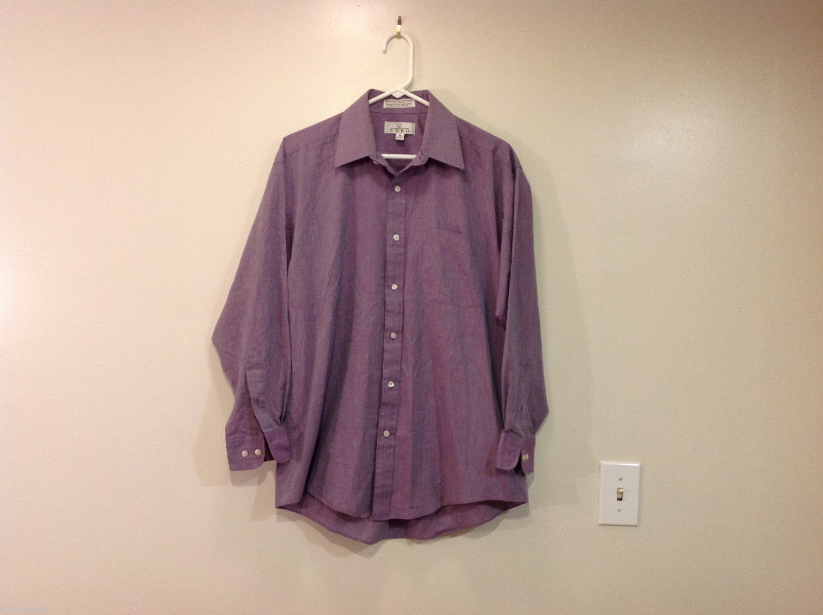 ENRO Light Violet with Gray Hue Shirt, Size 16 (32/33)