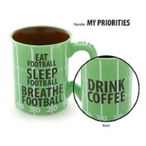 Eat Football Sleep Football Breathe Football Drink coffee Mug for the true fan - $39.99