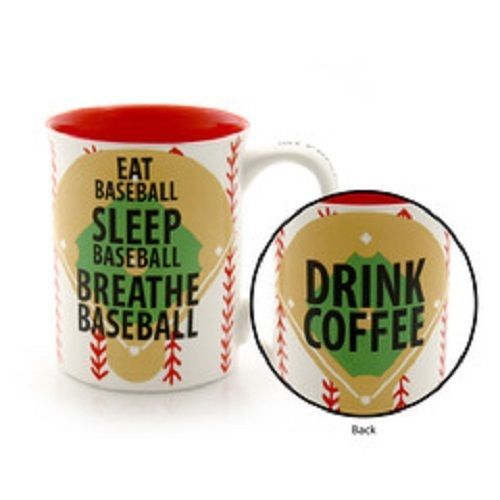 Eat Sleep Breathe Baseball Mug for the true fan Drink  Coffee priorities