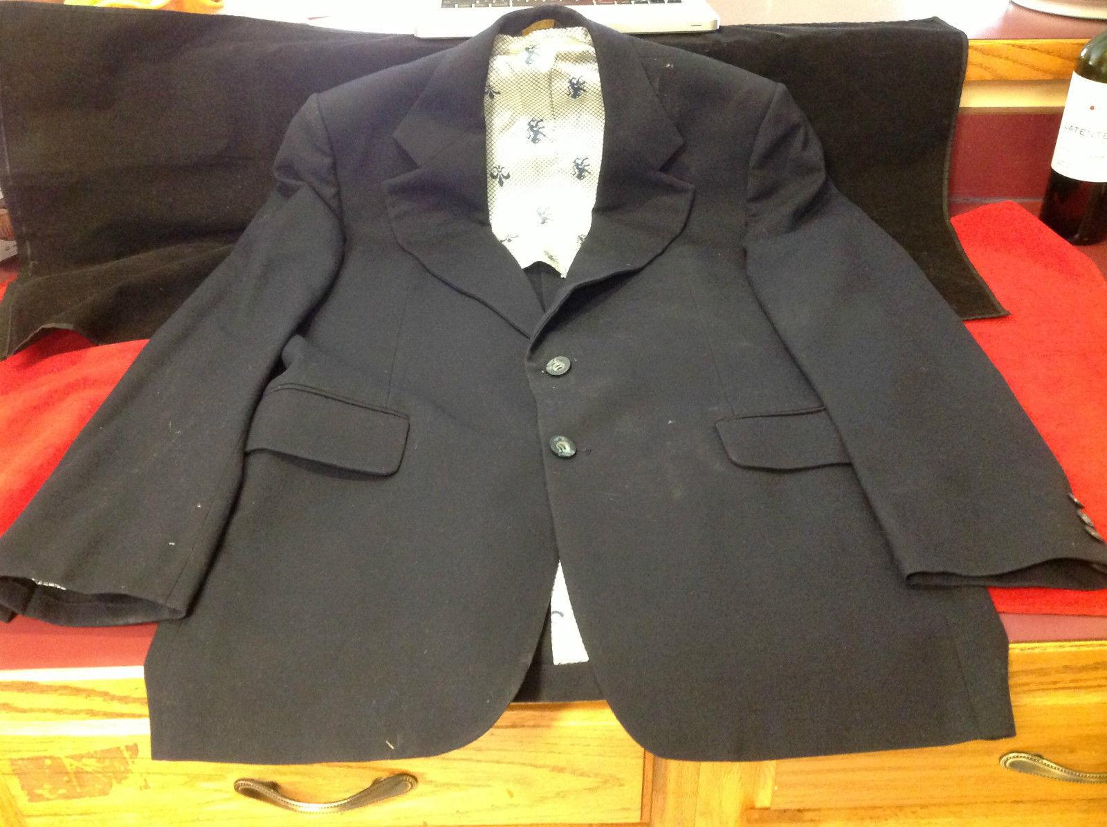 Eagle H.G. Rafalowsky Mens Black Blazer 20 Inch W 36 Inch L