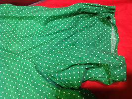 D & Co. Ladies Size 3X Short Sleeve Blouse Green with White Polka Dots image 9