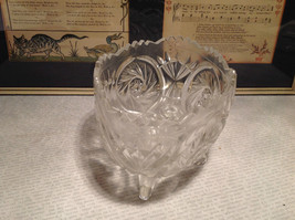 24 Percent Lead Crystal Vintage Crystal Serving Bowl Relief Made in Germany image 3