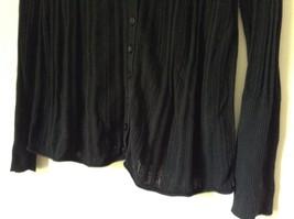 DKNY Jeans Black Size Medium Long Sleeve Button Up Shirt Pretty Design image 4