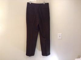 Dark Green 100 Percent Wool Pleated Front Dress Pants Louis Raphael Size 34 image 5