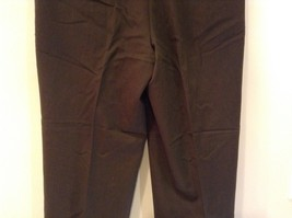 Dark Green 100 Percent Wool Pleated Front Dress Pants Louis Raphael Size 34 image 7