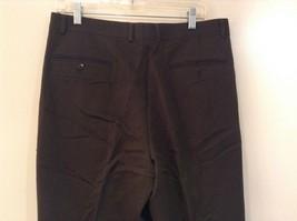 Dark Green 100 Percent Wool Pleated Front Dress Pants Louis Raphael Size 34 image 6
