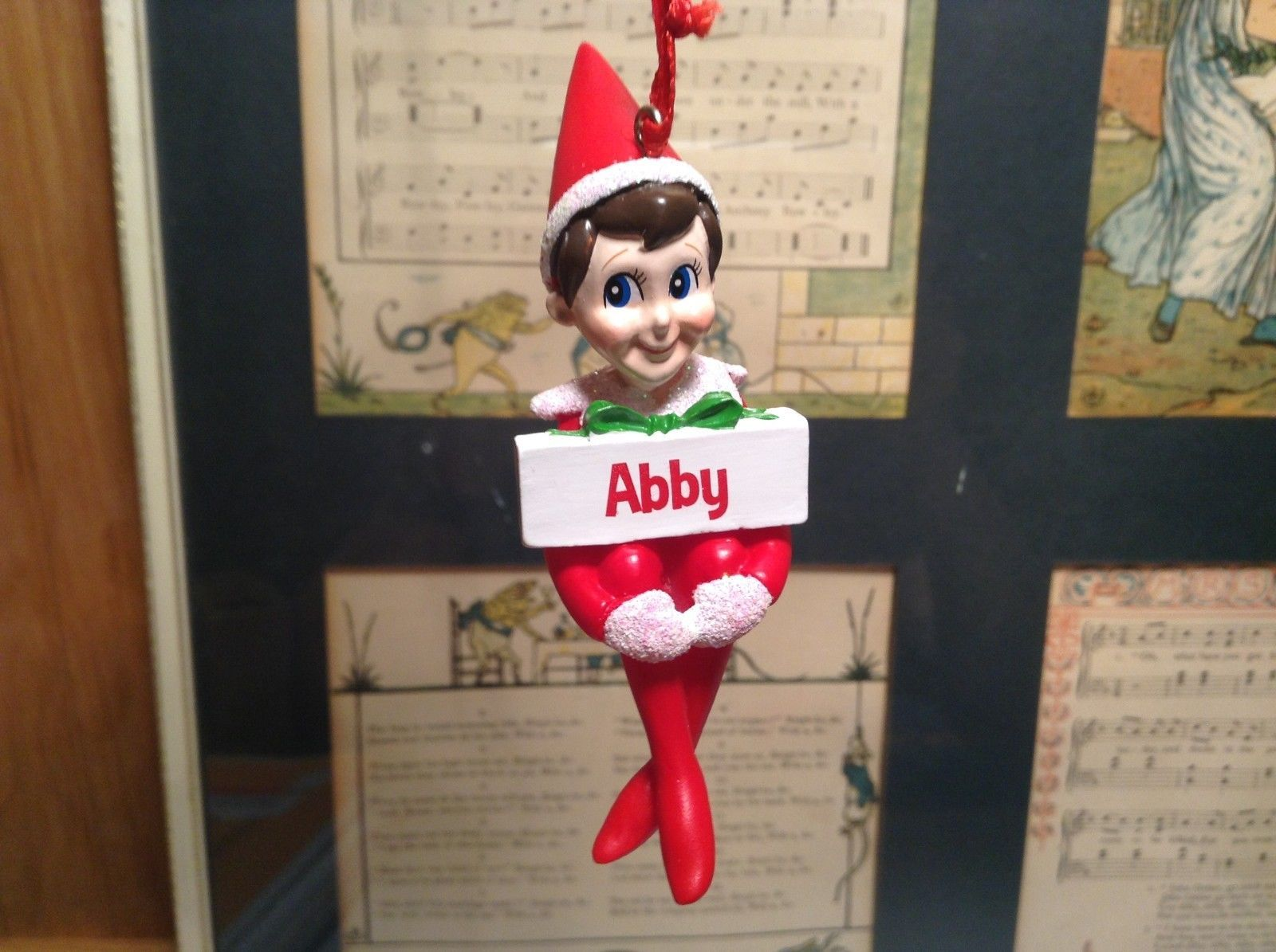 Dept 56 - Elf on the Shelf - Elf named Abby Christmas Ornament