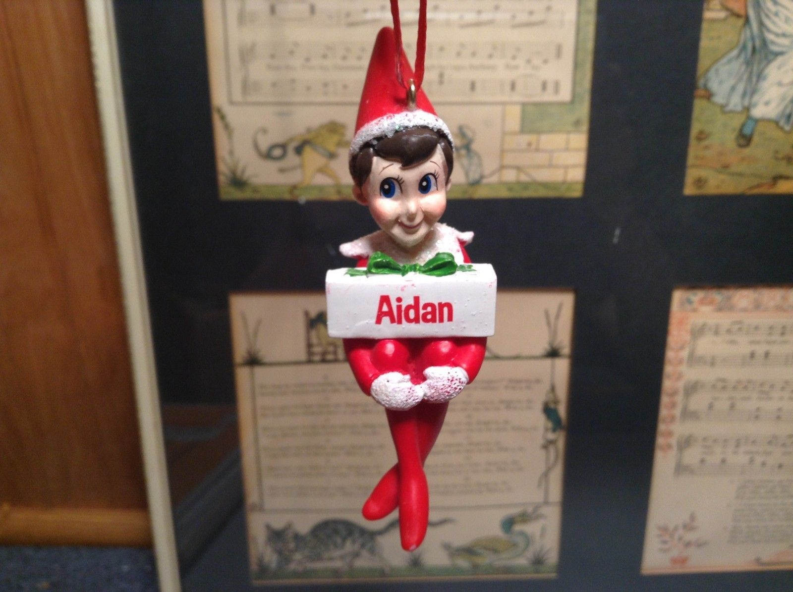 Dept 56 - Elf on the Shelf - Elf named Aidan Christmas Ornament
