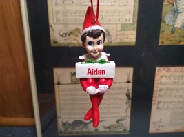 Dept 56 - Elf on the Shelf - Elf named Aidan Christmas Ornament