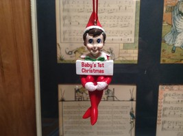 Dept 56 - Elf on the Shelf - Baby's First  Christmas Ornament