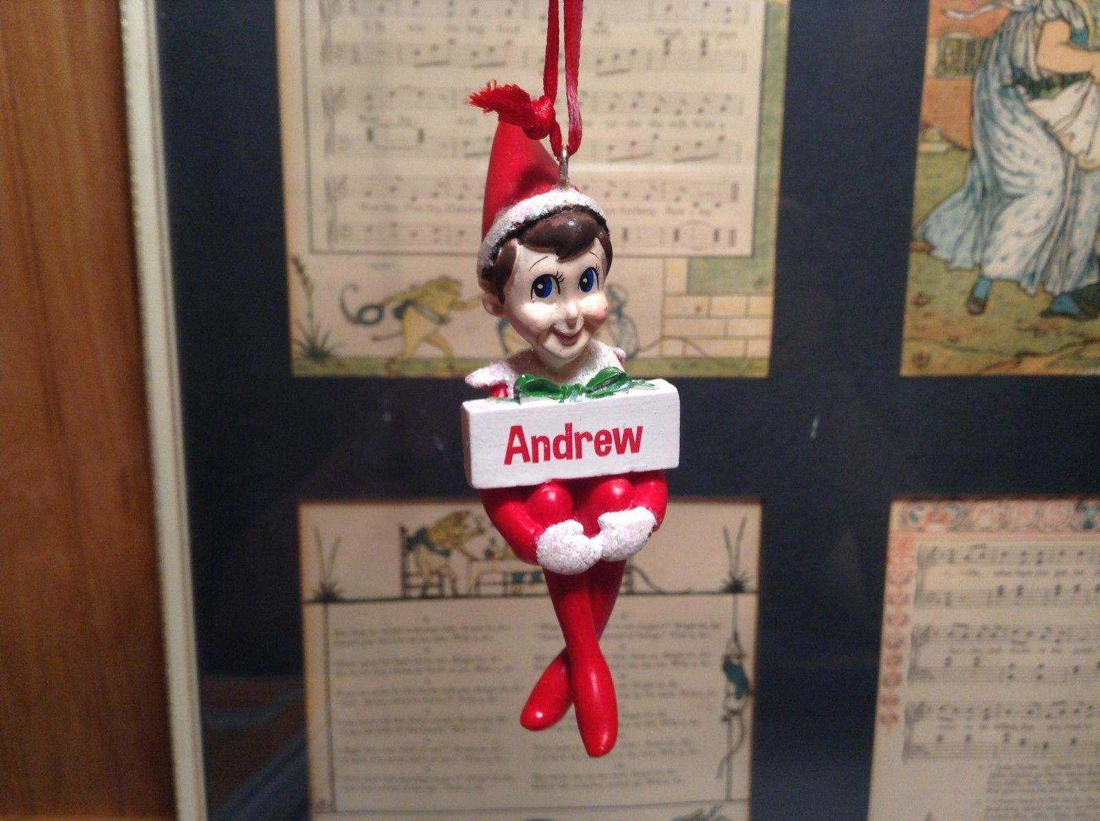 Dept 56 - Elf on the Shelf - Elf named Andrew Christmas Ornament