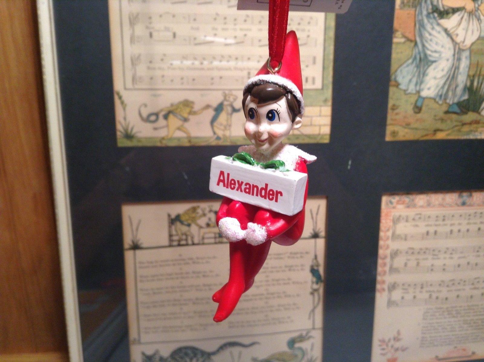 Dept 56 - Elf on the Shelf - Elf named Alexander Christmas Ornament
