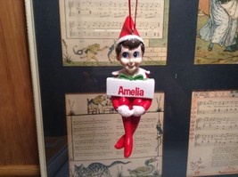 Dept 56 - Elf on the Shelf - Elf named Amelia Christmas Ornament image 1