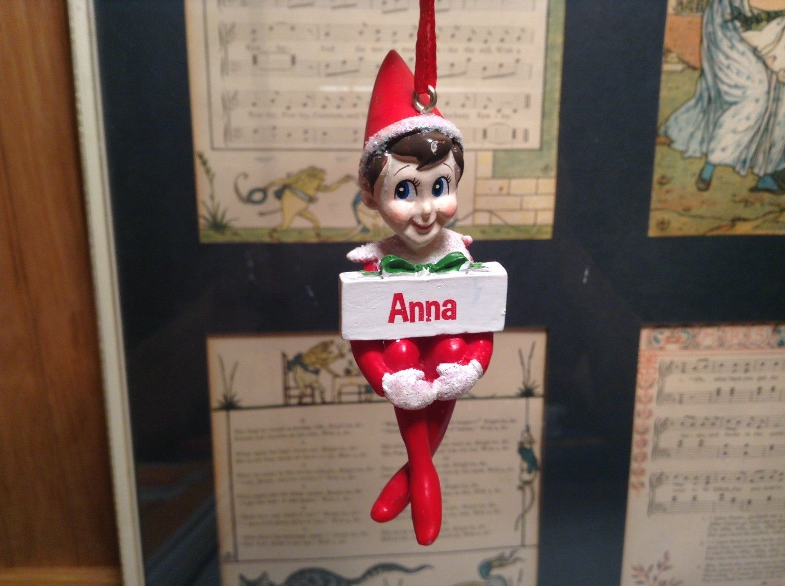 Dept 56 - Elf on the Shelf - Elf named Anna Christmas Ornament