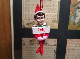 Dept 56 - Elf on the Shelf - Elf named Emily Christmas Ornament