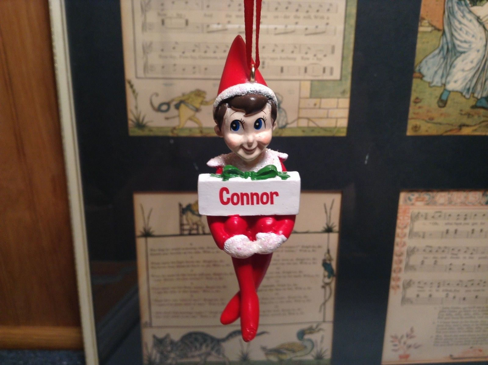 Dept 56 - Elf on the Shelf - Elf named Connor Christmas Ornament