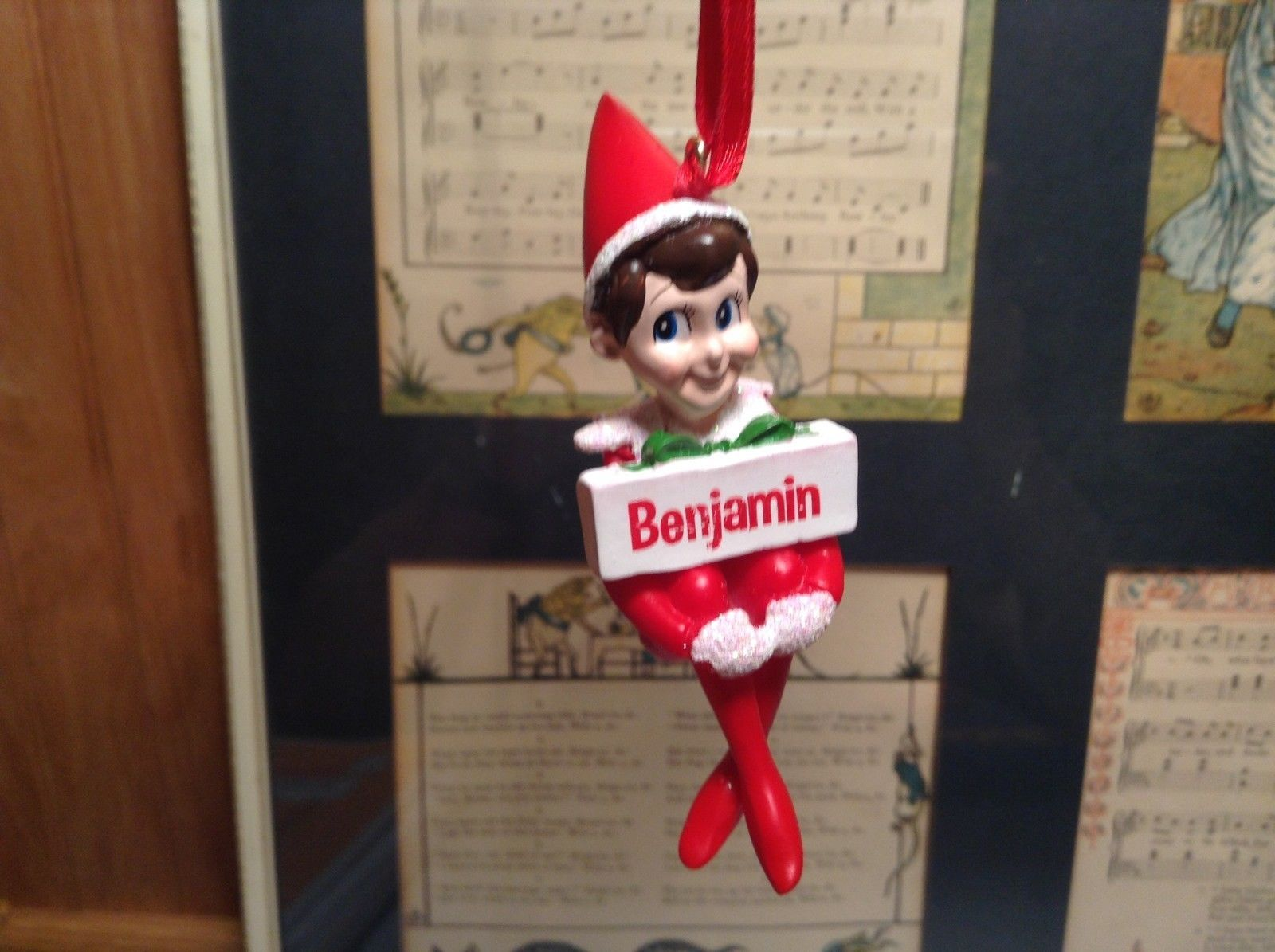 Dept 56 - Elf on the Shelf - Elf named Benjamin Christmas Ornament