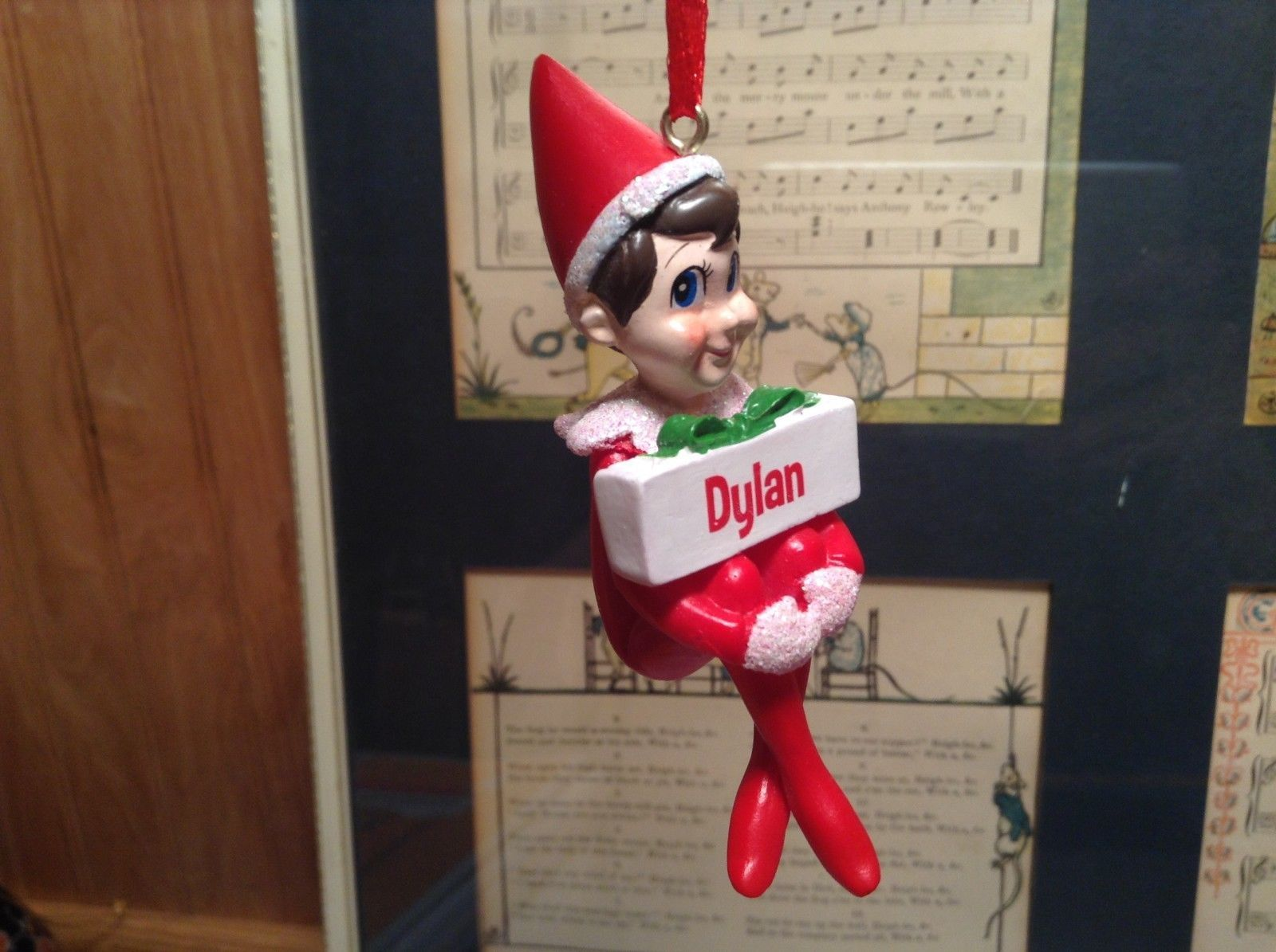 Dept 56 - Elf on the Shelf - Elf named Dylan Christmas Ornament
